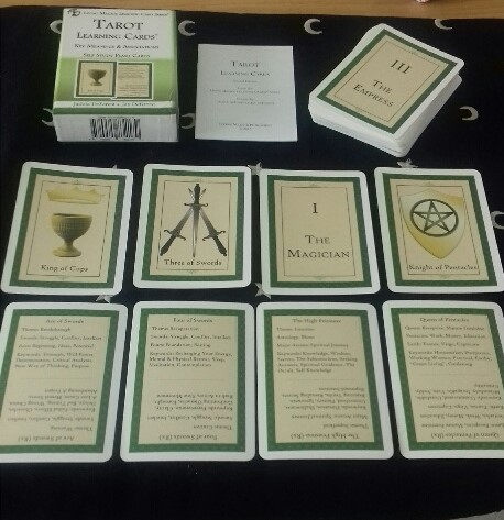 Inventive image for printable tarot flashcards
